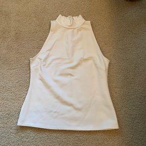 High neck sleeveless blouse
